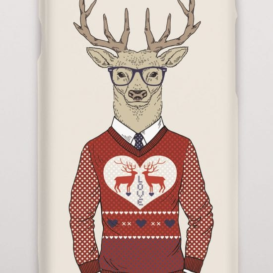 Deer Christmas Jumper phone cover