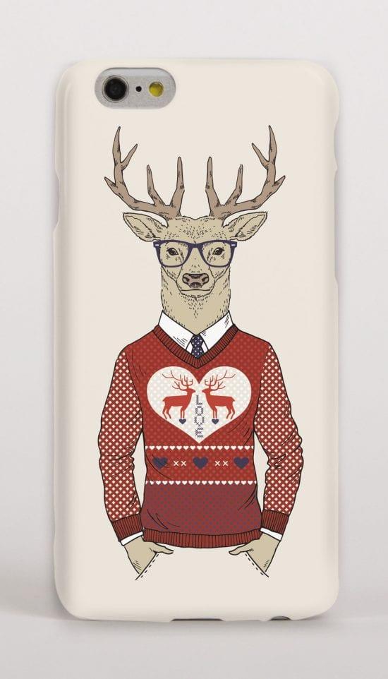 Deer Christmas Jumper phone cover
