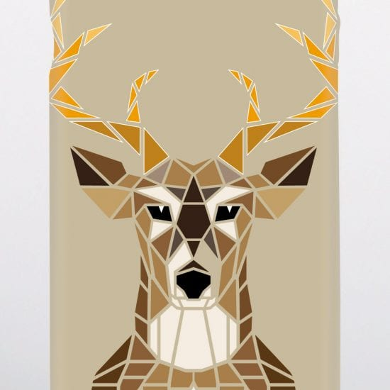mozaic stags head phone case
