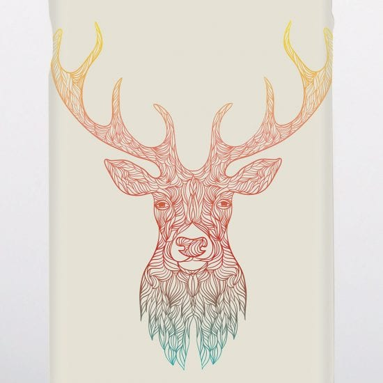 stags head phone case