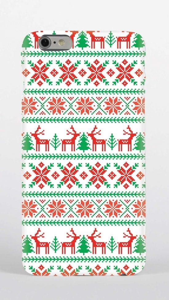 Phone case Christmas jumper design