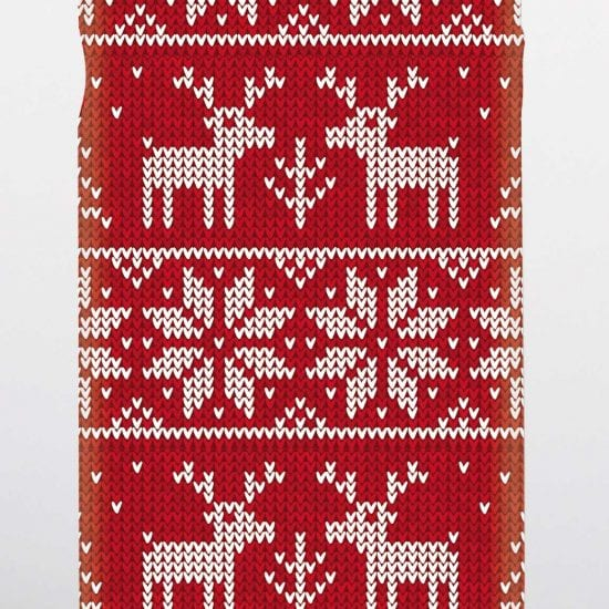 Christmas jumper pattern phone case
