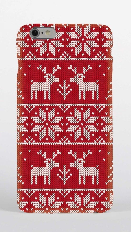 Christmas jumper pattern phone case