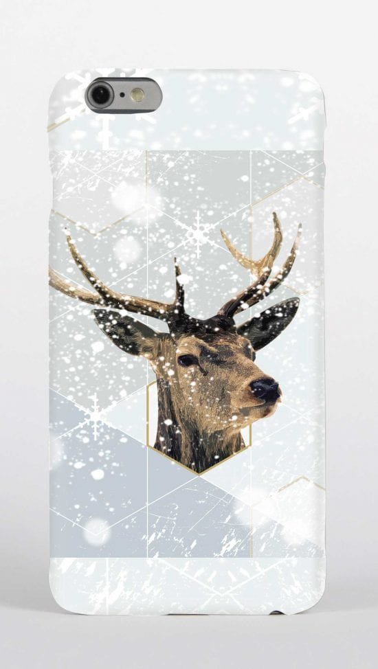 Stag in snow