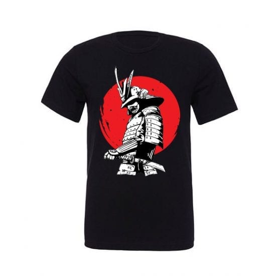 Samurai Japanese Warrior black T-Shirt