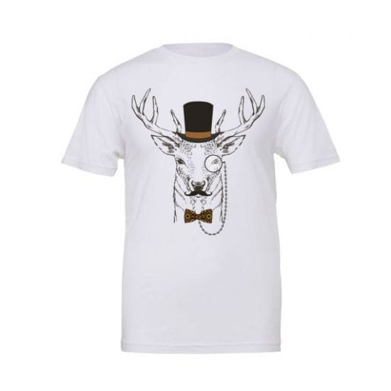 Stag in a top hat tshirt