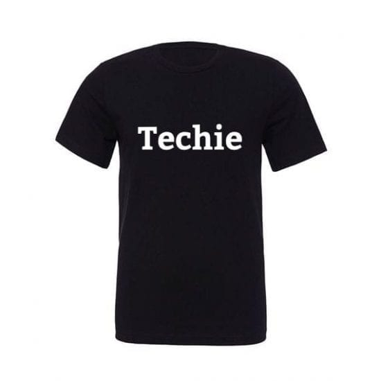 techie tshirt black