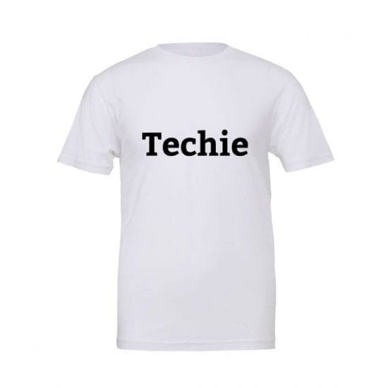 Techie tshirt white