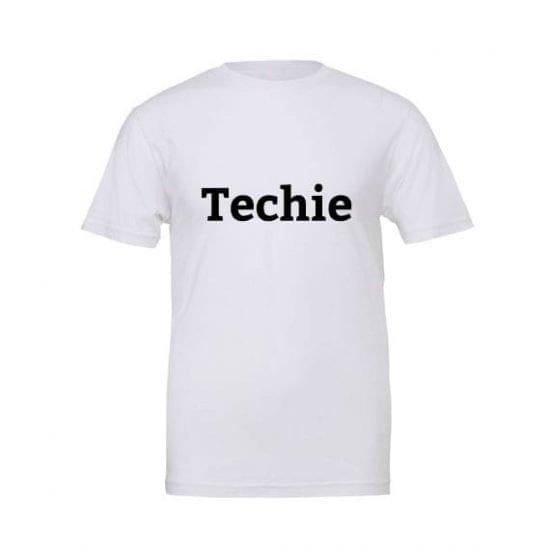 Techie tshirt white