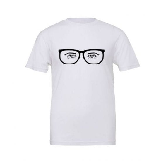 tshirt with specticles on