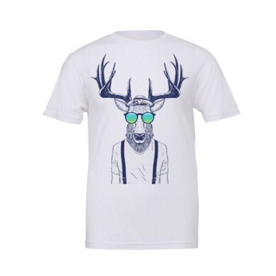 Stag man wearing sunglasses tshirt